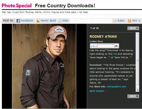 Free country songs from People
