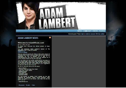 Adam Lambert Official Site