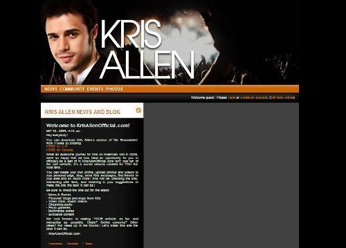 Kris Allen's Official Site