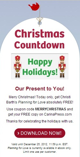E book randomize me and for december 25 you can get planning for love aisle bound by christi barth free by using this coupon code merrychristmas fandeluxe Image collections